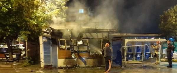 İBB açıkladı: Halk ekmek büfesi ateşe verildi