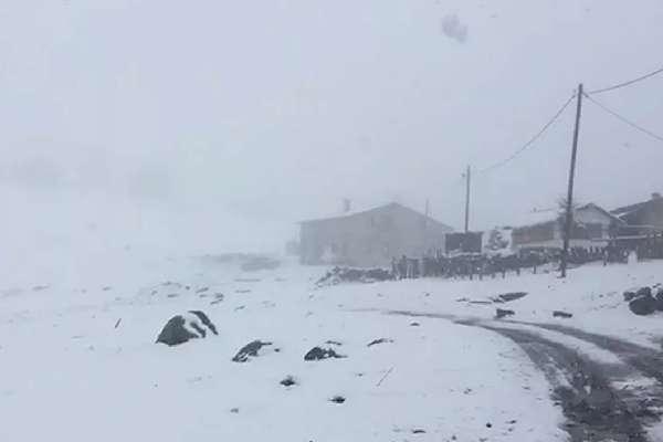 Mayıs ayında Rize'ye kar yağdı