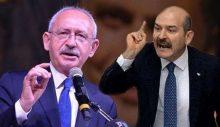 """Soylu, 'siyaset-mafya' ilişkisini eleştiren Kılıçdaroğlu'nu """"mafya"""" ilan etti!"""