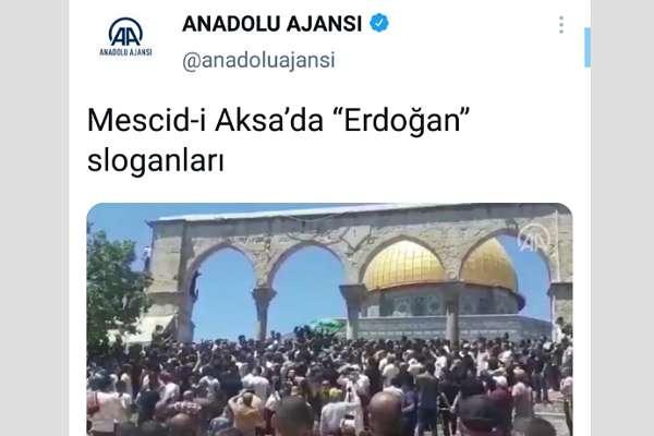 Anadolu Ajansı'ndan 'algı operasyonu': 'Erdoğan'ın eleştirildiği' sloganları çarpıttı