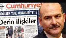 Cumhuriyet gazetesi, Soylu'ya verdiği yanıtla muhaliflerin tepkisini çekti!