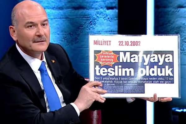 Soylu, sorulara yuvarlak cevaplar verdi! Merdan Yanardağ: AKP iktidarından önce içeri atılan organize suç örgütü liderleri AKP iktidarı döneminde birer birer serbest bırakıldı