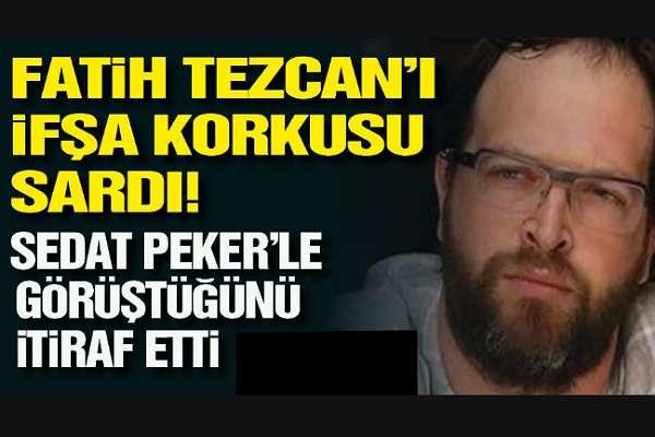 Telaşa kapılan yandaş Tezcan kendini ifşa etti: Sedat Peker ile ben de görüştüm