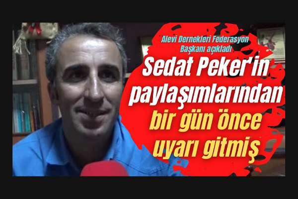 """Alevi temsilcisi, Peker'in """"Cemevine saldırı planı"""" iddiasını doğruladı: Bir gün önce güvenlik güçlerinden dostlarımız uyardı"""