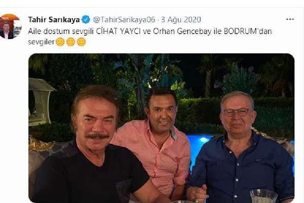 Beyaz TV sunucusu Tahir Sarıkaya, emekli Amiral Cihat Yaycı ve AKP ünlüsü Orhan Gencebay da o otelden çıktı!