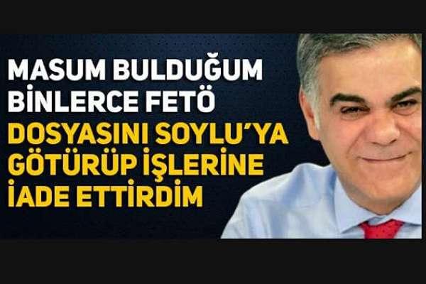 Süleyman Özışık, Süleyman Soylu'ya FETÖ'den yargılanan binlerce kişinin dosyasını götürüp, affettirdiği açıkladı