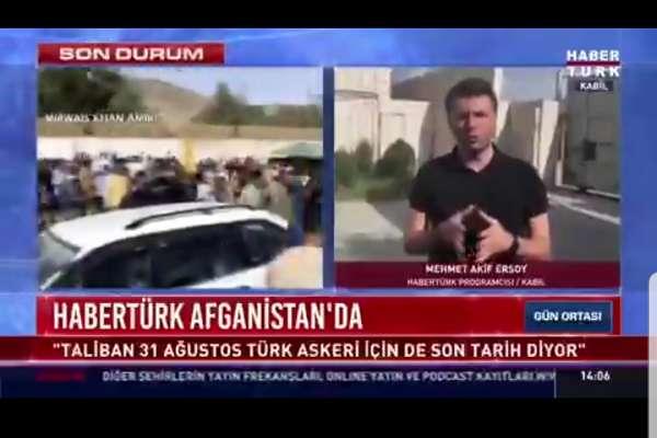 Gazeteci Ersoy: Taliban mensubu, Türkiye'de üniversiteye kabul edildiğini söyledi
