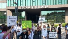 Validebağ halkı, Üsküdar Belediyesi'ni protesto etti