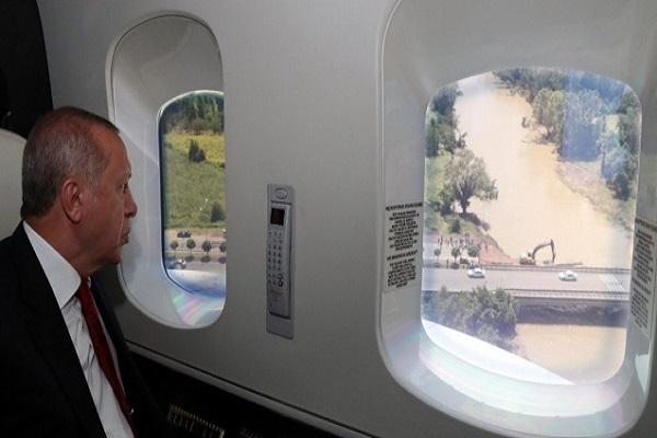 Erdoğan'dan sel bölgesinde 'sağlam altyapı' mesajı