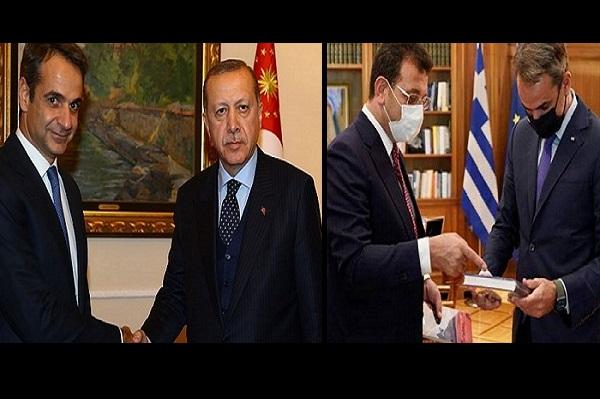 Erdoğan, New York'ta Miçotakis ile görüşeceğiz dedi; Miçotakis, Atina'da İmamoğlu ile görüştü
