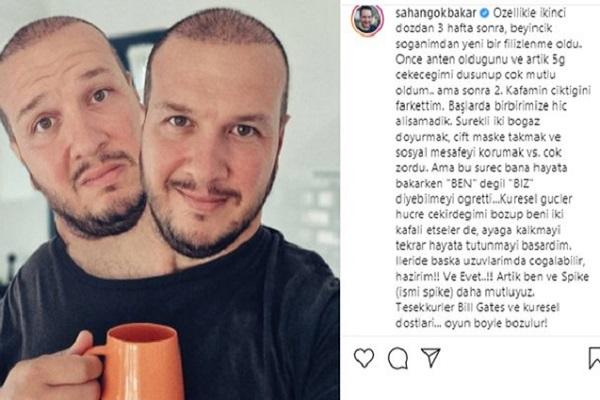 Şahan Gökbakar, aşı karşıtı Fatih Erbakan'ı tiye aldı: Beyincik soğanımdan yeni bir filizlenme oldu