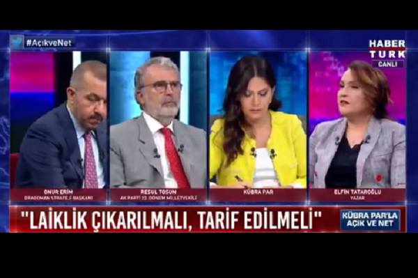 Elfin Tataroğlu'ndan 'laiklik kaldırılmalı' diyen AKP'li Tosun'a canlı yayında sert yanıt